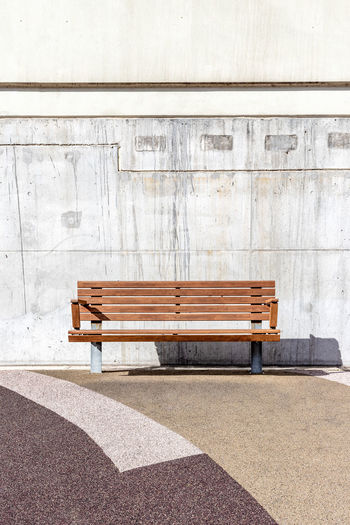 Park bench in