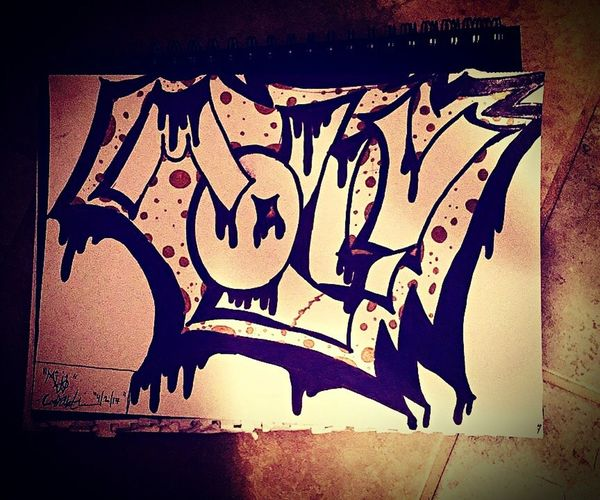 Little something I drew while board 🤙🏽 Graffiti Art And Craft Vignette Close-up Paint Painted Image Creativity No People Arizona Phoenix, AZ Az Artist Artists Of Az