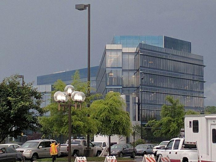 The Mothership. Eastman Building And Sky Rainy Days