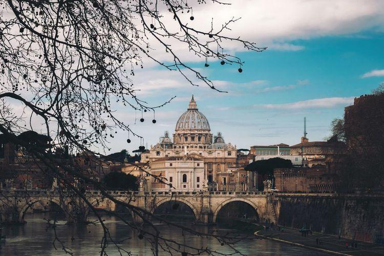 The Dome River Bridge Church Vatican Rome Landscape City Dome Sky Architecture Built Structure Historic EyeEmNewHere