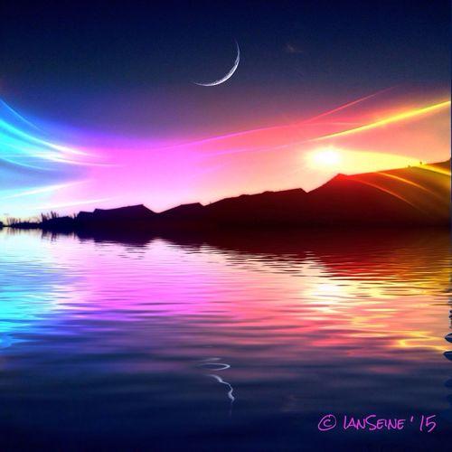 colorful sunrise Sunrise Sunrise_sunsets_aroundworld Sunrise_Collection Eye4enchanting Eye4photography  Freestyle Water_collection Water Reflections OpenEdit ArtWork