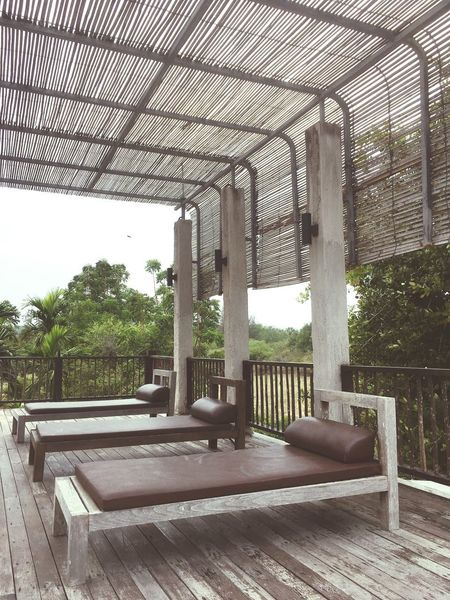 Architecture Built Structure Seat Indoors  Day Plant Tree Absence Wood - Material No People Nature Empty Sky Furniture Relaxation Chair Building Window Wood Architectural Column