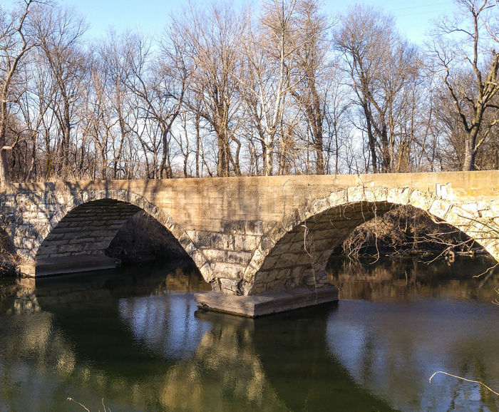 Stone Double-Arch Bridge. This is The Neer Bridge, named after pioneer land owners, which happen to be my ancestors Landscape Architecture Bridge Old Rural Limestone Nature Scenics Water Creek Reflection Outdoors No People Day Unedited EyeEmNewHere