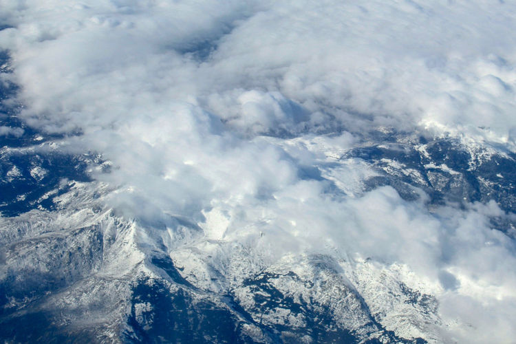 Mountains and Clouds Mountain Range Mountain High Angle View Airplane Mountains Mountains And Clouds Snowcapped Mountain Clouds Cloudy Wheather From Above  From An Airplane Window The Great Outdoors - 2018 EyeEm Awards