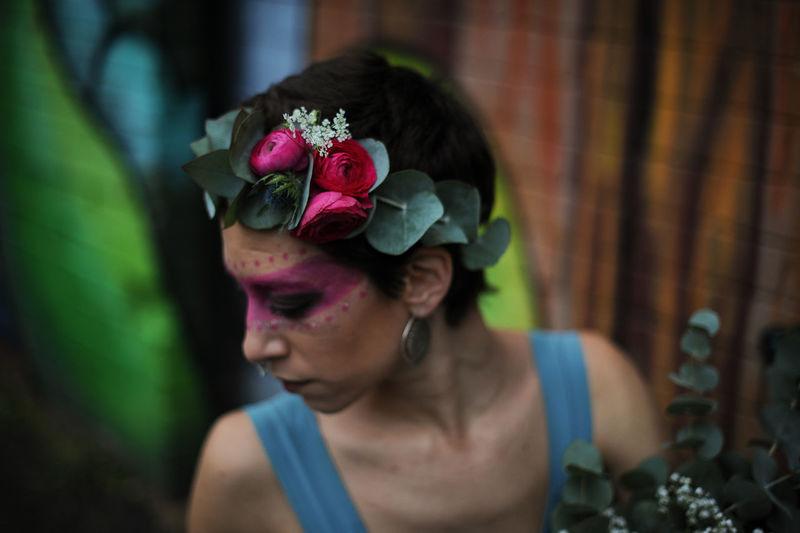 Beauty Flowers Graffiti London Portrait Real People The Portraitist - 2017 EyeEm Awards Tribal