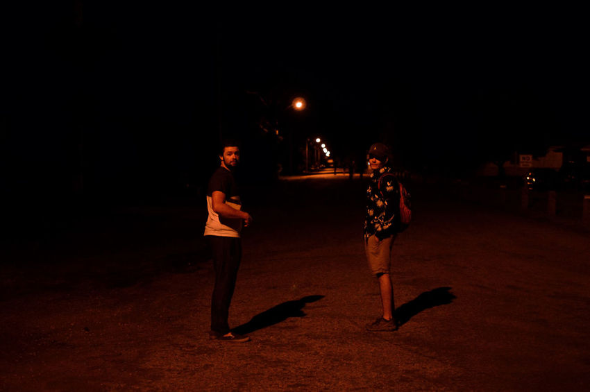 Night Wandering Dark Friends Full Length Illuminated Leisure Activity Lifestyles Men Night Night Time Outdoors People Real People Two People Walking Young Adult EyeEmNewHere The Week On EyeEm