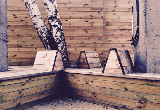 Wood - Material No People Built Structure Plank Steps Day Outdoors Architecture