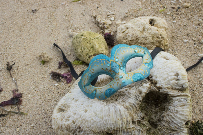 Beach Party Masquerade Glitter Beach Blue Coral Mask Masquerade Party Reef Sand