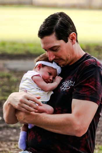 This is my oldest and my new granddaughter Tadaa Community Malephotographerofthemonth Bonding Men Togetherness Males  Care Father Son Embracing Love Affectionate Newborn 0-1 Months Falling In Love Baby Girls New Life