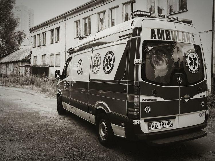 Poland Ambulance Warsaw Emt Black And White