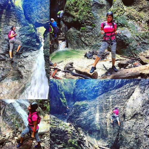 Climbing A Mountain Ferraty Nature Slovenský Raj Tourist