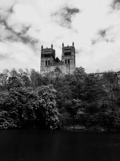 Durham Cathedral Durham Durham City River View River Wear Riverside The North East Black And White