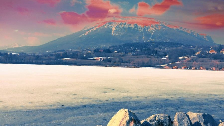 😇#goodmoments Paysage Moments Cold Temperature Snow Mountain Sky Scenics - Nature Beauty In Nature Nature No People Tranquil Scene Tranquility Environment Landscape Cloud - Sky