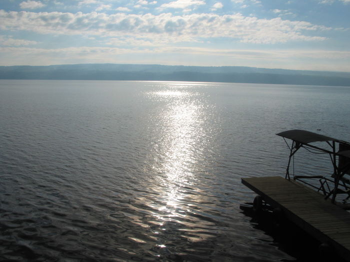 Beauty In Nature Calm Cloud Cloud - Sky Cloudy Day Finger Lakes Of Western NY Horizon Over Water Idyllic Nature No People Non-urban Scene Ocean Outdoors Remote Rippled Scenics Sky Tranquil Scene Tranquility Water