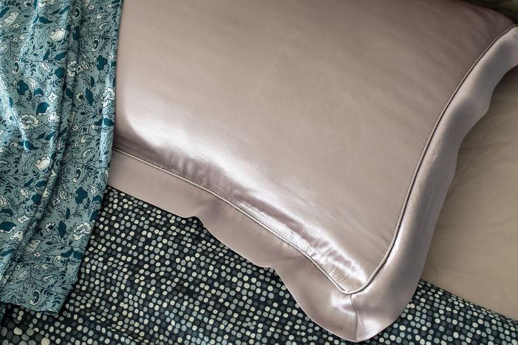 High angle view of sofa on table