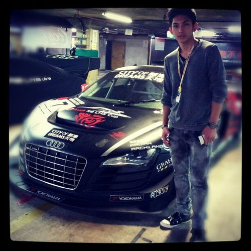 Macau Grand Prix 2012 awesome cars every where jealous wanted to be race car driver one day happy cool swag race car right next to me