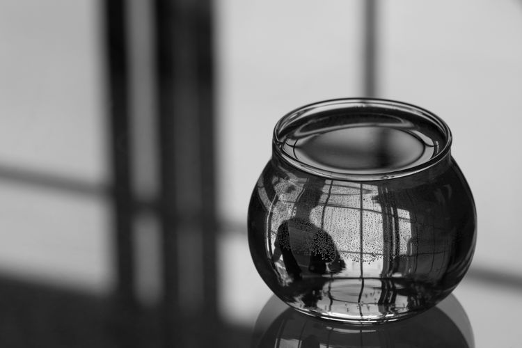 Isolation Concept Reflection of Man in Bowl of Water Alone Loneliness Reflected  Reflection Silhouette Abstract Art Black And White Bnw Bowl Bw Circular Close-up Concept Conceptual Confined  Fishbowl Glass Isolation One Man Self Portrait Still Life Transparent Trapped Windows