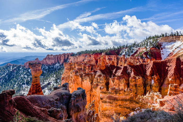 Beauty In Nature Bryce Canyon Cloud - Sky Day Landscape Mountain Nature Outdoors Scenics Sky