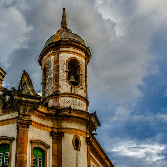 Church Ouro Preto - Brasil Architecture Bell Tower Building Exterior Built Structure Cloud - Sky Day History Igreja Low Angle View No People Outdoors Place Of Worship Religion Sky Spirituality