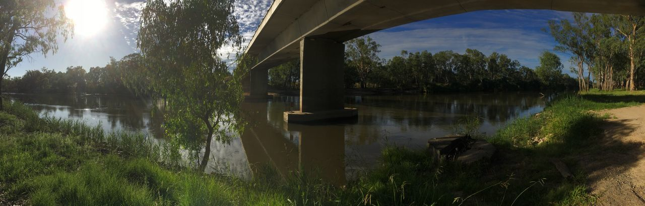 Murray River Tree Water Reflection Nature Sky Lake Built Structure No People Tranquility Day Outdoors Scenics Architecture Beauty In Nature Bridge - Man Made Structure