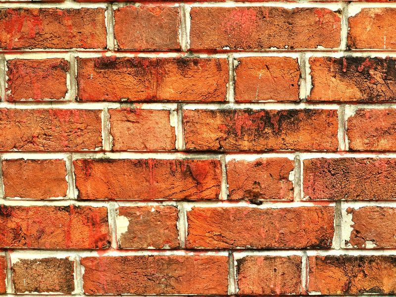 Brick Wall Wall - Building Feature Backgrounds Full Frame Brick Textured  Red Pattern Architecture Built Structure Close-up Day Building Exterior Outdoors No People Background Architecture Protection Shutter Striped Texture Wall Orange Colour