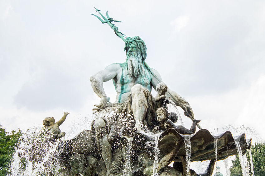 Art And Craft Berlin Berliner Ansichten Brunnen Capital Cloud - Sky Day Deutschland Fountain Fuente Germany Hauptstadt Human Representation Low Angle View Motion Nature Neptun Neptunbrunnen Neptune No People Outdoors Sculpture Splashing Statue Water Discover Berlin