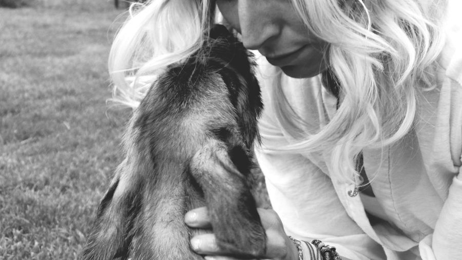 A little bit of love..... Blackandwhite Monochrome Peoplephotography Irish Wolfhound Puppy❤ Puppy Love ❤ I Love My Dog The Places I've Been Today I Love My Sister ♡♥ Love ♥