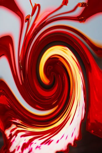 Abstract Close-up Day Full Frame Indoors  Nature No People Pattern Red Swirl