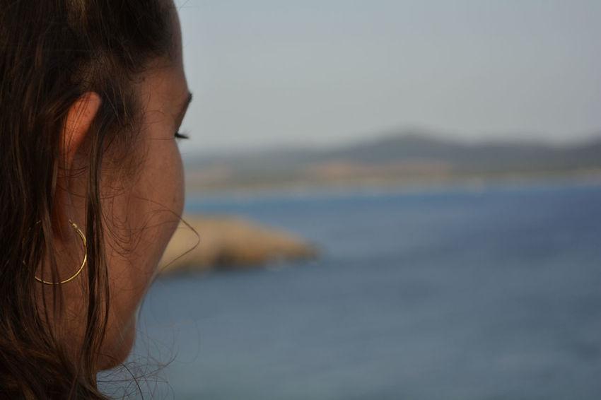The Great Outdoors - 2018 EyeEm Awards Santadi Sardegna Island Sardegnaofficial Water Young Women Women Sea Headshot Beautiful Woman Summer Females Beach Side View Vision