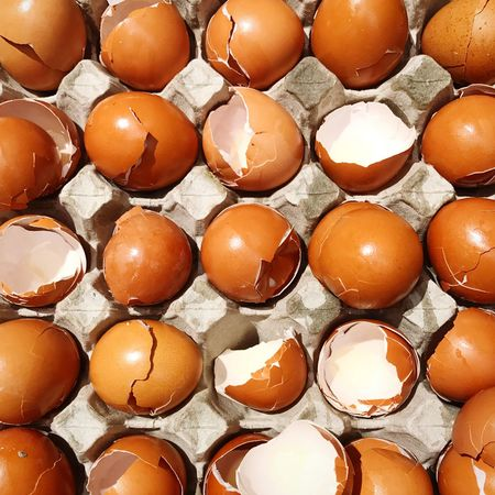 Egg Food Food And Drink Egg Carton Healthy Eating In A Row Freshness Brown Full Frame Backgrounds Easter Raw Food No People Eggshell Egg Yolk Indoors  Close-up Arrangement Fragility Day EyeEm Gallery EyeEmNewHere EyeEm Best Shots Low Angle View Hong Kong