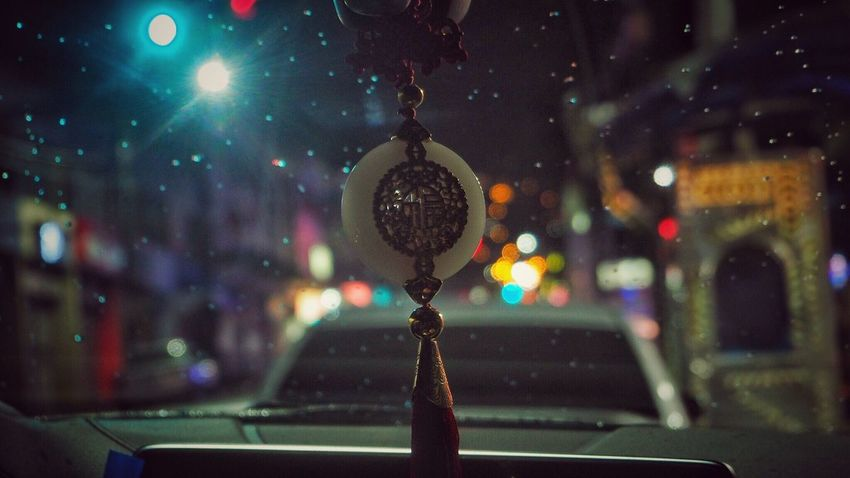 Night Hanging Focus On Foreground Close-up No People Illuminated Outdoors Chinese Street Bookeh Effect