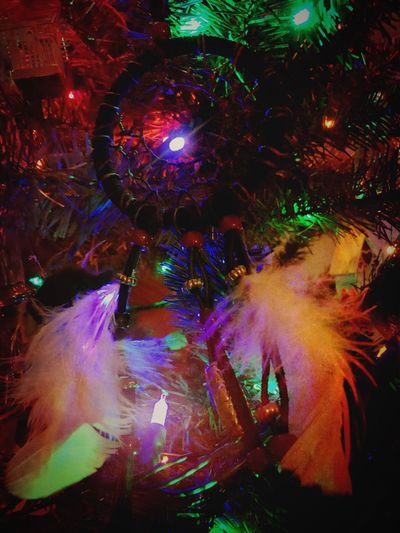 Wishing a friend the most wonderful of dreams. 😴😇😚 Multi Colored Dancing Dreaming Dreamcatcher Night Illuminated Woman Confidant Close-up Taking Photos Relaxing Pleasant Tranquility Christmas Decoration Light Christmas Tree Walking Around EYEEM A Dreamer...