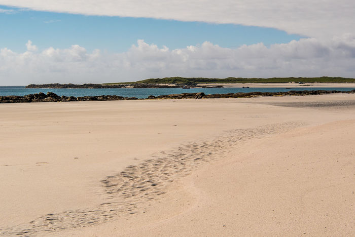 Beach Cloud - Sky Day Hebrides Isle Of North Uist Landscape Nature No People Outdoors Outer Hebrides Postcard Sand Scotland Sea Sky Tranquility Travel Destinations Water