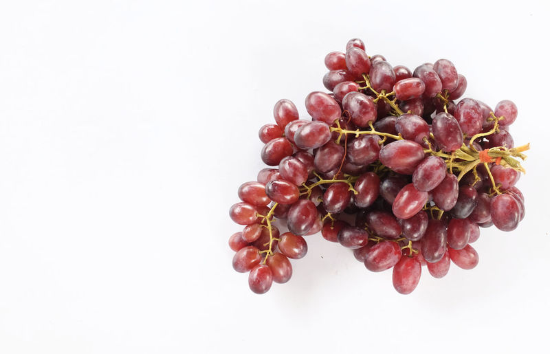 Close-up of berries against white background