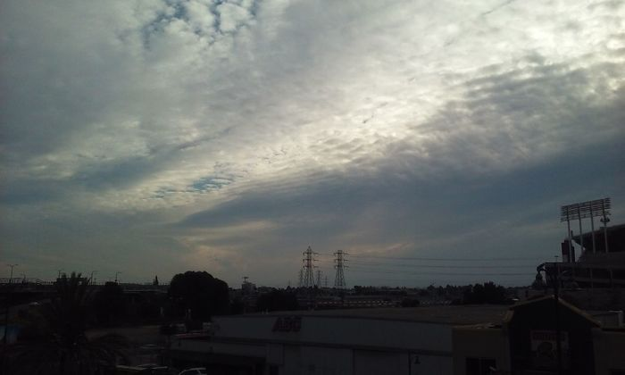Somewhere in the San Francisco Bay Area, I stepped off BART and saw this... Cloudscape Beauty In Nature Cloud - Sky Clouds And Sky Cloudscape Sky Cloudscapes Clous And Sky Dusk High Clouds Nature No People Outdoors San Francisco Bay Area Silver Skies Silver Sky Sunset