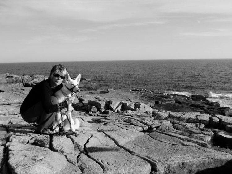 Gita and mum at Schoodic Point, Maine Dogs MyHeart❤ Furfamily