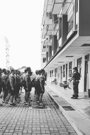 Bmt Bmtc Basic Military Training National Service 50 Years Of National Service Bnwstreetphotography Bnwsingapore Bnwphotography Streetphotography Sg_streetphotography Tekong Pulau Tekong Enlistment Day Singapore