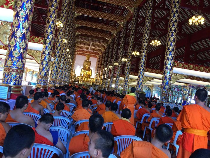 Large Group Of People Religion Real People Spirituality Crowd Place Of Worship Men Women Faith Outdoors Day Monks In Temple Buddhist Temple Buddha Buddhist Buddhism