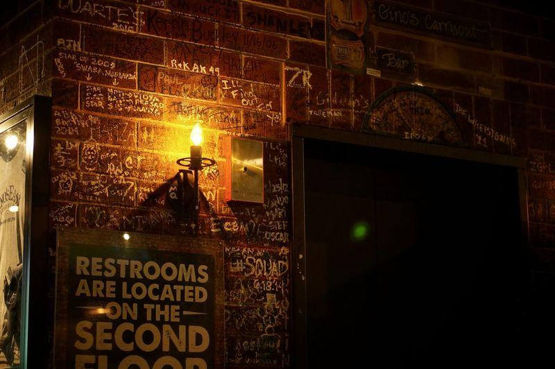 Gino's East Chicago ♥ Light Bulb Graffiti
