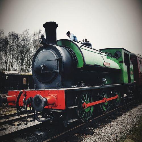 full steam ahead Steamtrain Train Train - Vehicle Railroad Track History Sky Steam