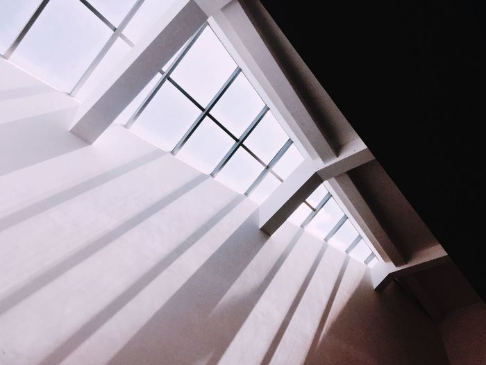 Shadow Low Angle View Indoors  Architecture No People Window Built Structure EyeEmNewHere Building White Color