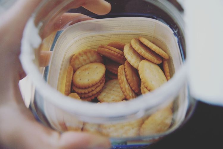 Crack the Crackers EyeEm Selects Food Food And Drink Ready-to-eat Selective Focus Snack Baked Close-up Freshness Bowl Indoors  No People Healthy Eating Jar Container Retro Oldschool Throwback Vintage Yummy Delicious Salty Salty Food Plastic Eat
