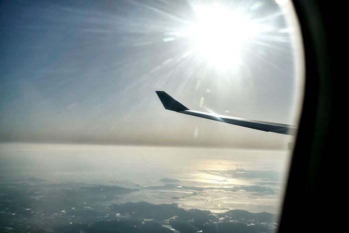 Korea Photos Sunshine Landscape Sunpark Sunrays Sea And Sky Nature From An Airplane Window Snapshot Light And Shadow Streamzoofamily