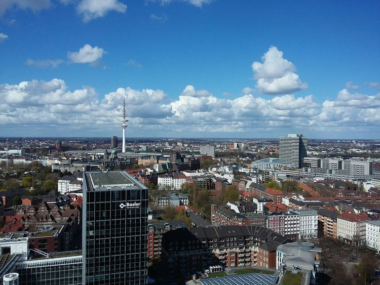 View over Hamburg IV. · Germany 040 Hansestadt Hanseatic Skyline Cityscape Urban Landscape Urbanity Architecture Rooftops Heinrich-Hertz-Turm German Cities From The Michel Clouds And Sky Beautiful Day