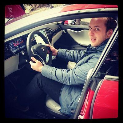 Tesla Model S das geilste auto auf dem Planeten Newyork2015 columbus circle