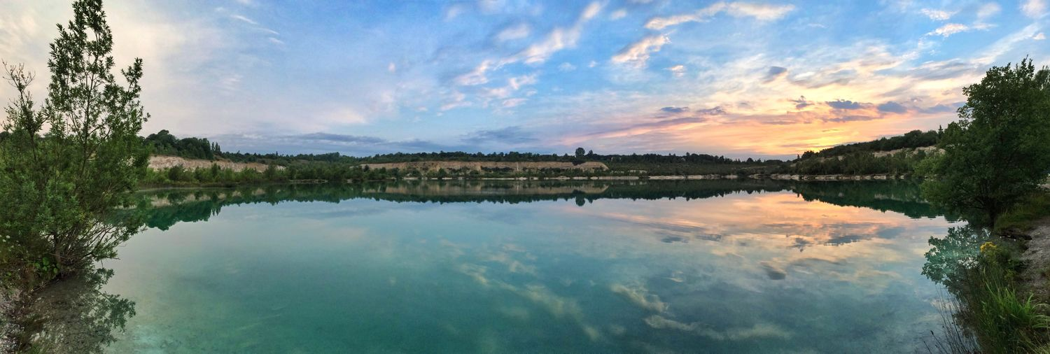 Reflection Clouds And Sky Sunrise EyeEm Best Shots Panorama IPhoneography Travelling