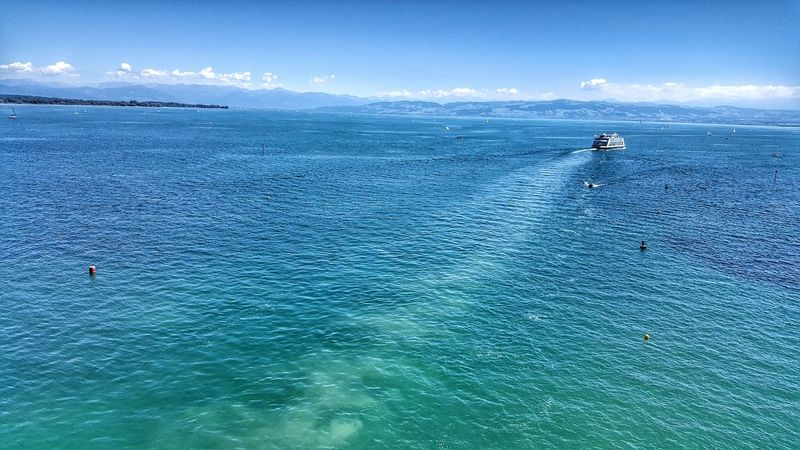 Friedrichshafen Bodensee Water Blue Nature Outdoors Day Beauty In Nature Sky Rhine Alps Germany Landscape
