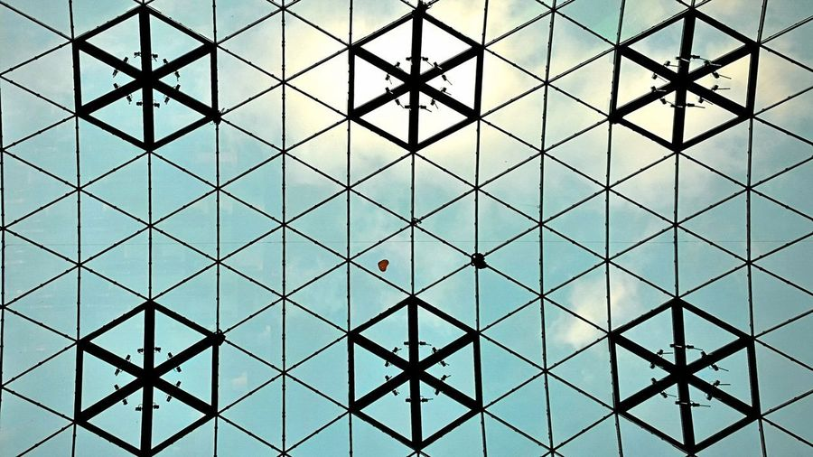 Love is in the air Backgrounds Full Frame Pattern Seamless Pattern Triangle Shape Grid Window Repetition Architecture Building Exterior Triangle Architectural Design Architecture And Art Ceiling LINE Architectural Detail Square Shape Architectural Feature Skylight Geometric Shape Diamond Shaped Circular