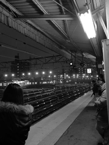 帰ります。🐸👋 Illuminated Railroad Station Public Transportation Transportation Railroad Station Platform