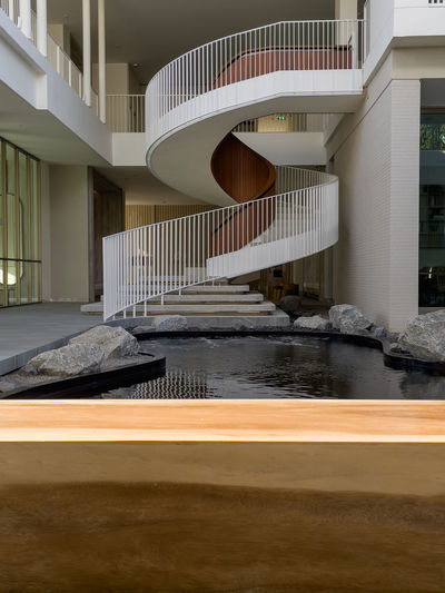 Staircase of modern building